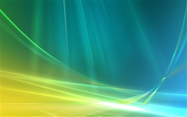 Preview wallpaper Blue and green abstract space curve