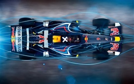 Blue light Red Bull F1 car