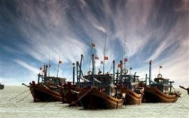 Preview wallpaper Boat sea sky
