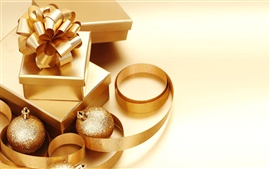 Preview wallpaper Christmas decorations golden theme