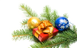 Preview wallpaper Christmas ornaments and gifts