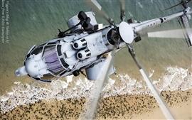 Eurocopter EC-725 vôo de helicóptero lâminas