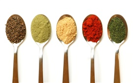 Preview wallpaper Five colors of seasonings