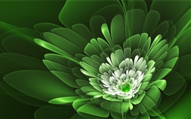 Preview wallpaper Flower petals are green