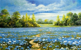 Preview wallpaper Landscape oil painting
