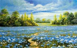 Peinture à l'huile paysage