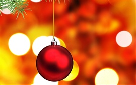 Preview wallpaper Red Christmas ball