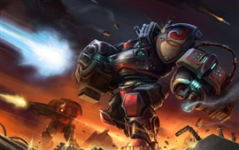 Preview wallpaper Starcraft terran marauder gun war