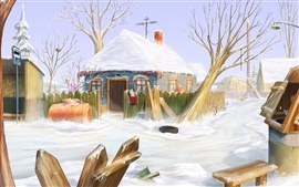 Preview wallpaper Winter home of the Snow