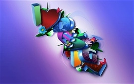 Preview wallpaper 3D beautiful love