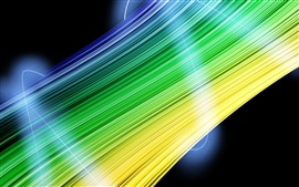 Preview wallpaper Abstract green and yellow lines