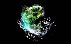 Preview wallpaper Abstract green fish