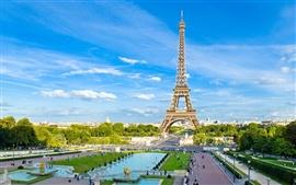 Impresionante torre Eiffel de París