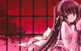 Preview wallpaper Anime girl miss her sweetheart