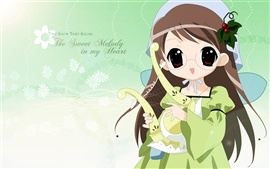 Preview wallpaper Anime girl sweet melody