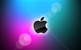 Apple blue and purple background