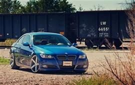 BMW blue car