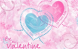 Preview wallpaper Be my Valentine, Two love hearts