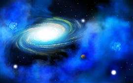 Preview wallpaper Blue nebula of the universe