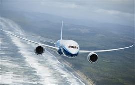 預覽桌布 波音787夢想飛機的飛行