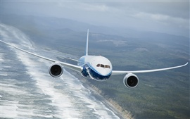 Aperçu fond d'écran Boeing 787 Dreamliner volants