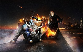 Preview wallpaper Bull Rider creative design
