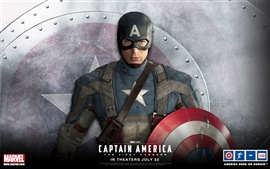 Chris Evans em Captain America: The First Avenger