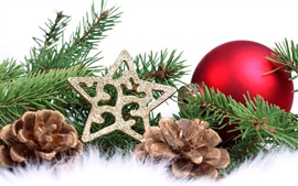 Preview wallpaper Christmas tree decorations
