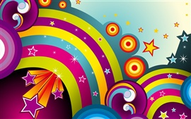 Preview wallpaper Colorful circle vector
