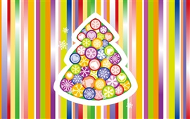 Preview wallpaper Colorful vector Christmas tree