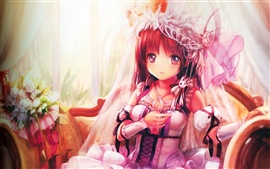 Preview wallpaper Cute anime girl dress up