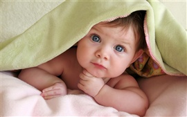 Preview wallpaper Cute baby In thinking