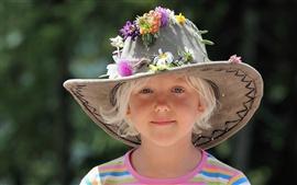 Симпатичные девушки шляпа летом
