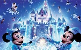 Aperçu fond d'écran Noël de Disney Mickey Mouse