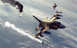 Fighter air battle