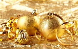 Preview wallpaper Gold ball Christmas decoration theme