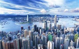 Aperçu fond d'écran Hong Kong gratte métropole