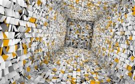 Затерянные в абстрактных 3D комнате