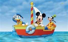 Preview wallpaper Mickey adventure at sea