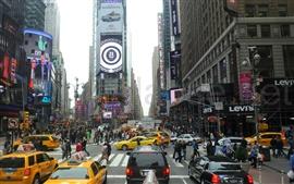 Aperçu fond d'écran New York, les gens de la rue