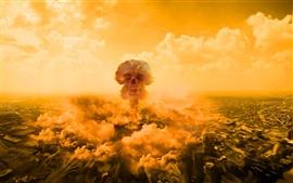 Nuvem de cogumelo nuclear explosão