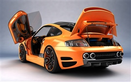 Preview wallpaper Orange sports car close-up