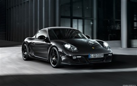Preview wallpaper Porsche Cayman S Black Edition 2011