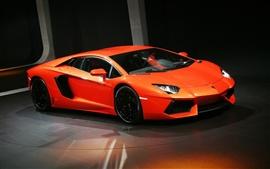 Красный Lamborghini супер спортивный автомобиль