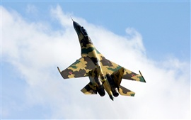 Preview wallpaper Russia Su-35 Camouflage fighter