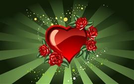 Aperçu fond d'écran Coeur de la Saint Valentin