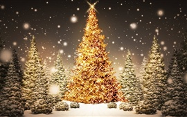 Preview wallpaper Sparkling Christmas Trees