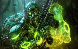Preview wallpaper Starcraft 2 ghost cyborg
