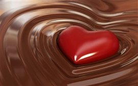 Aperçu fond d'écran Doux en forme de coeur au chocolat