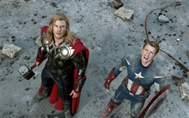 Preview wallpaper Thor and Captain America in The Avengers
